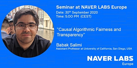 NAVER LABS Europe seminar: Causal Algorithmic Fairness and Transparency tickets