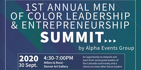 1st Annual Men of Color Leadership and Entrepreneurship Summit tickets