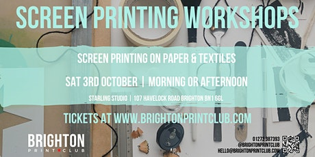 Screen Printing on Paper & Textiles tickets