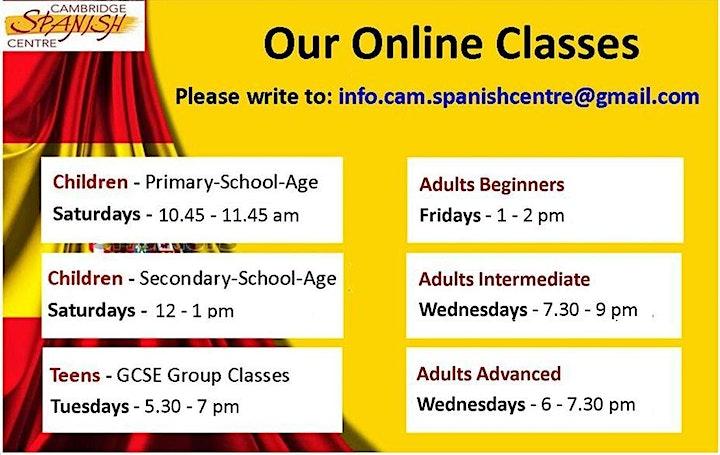 Bienvenido de nuevo at the Cambridge Spanish Centre image