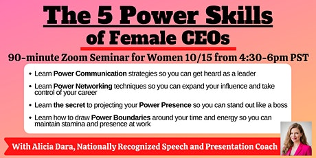 The 5 Power Skills of Female CEOs tickets