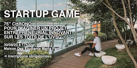 Startup game // 75 min pour créer et simuler un projet entrepreneurial billets