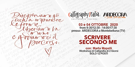Scrivere secondo me - 2 giorni di calligrafia con Marta Mapelli biglietti