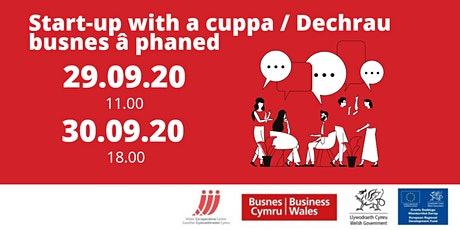 Start-up with a cuppa – September sessions tickets
