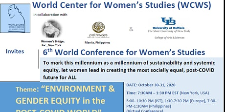 6th Annual Conference of the World Center for Women's Studies tickets