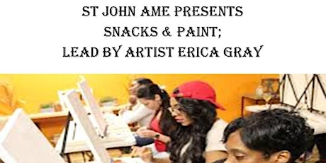 St John AME Paint n'Snack tickets