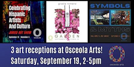 Osceola Arts celebrates Hispanic Artists and Culture with 3 art receptions! tickets