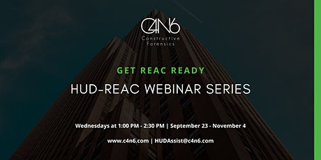 REAC Ready: HUD-REAC Preparedness Webinar Series tickets