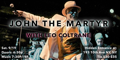 John the Martyr with Leo Coltrane tickets