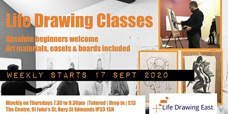 Life Drawing East: Tutored Life Drawing Classes tickets