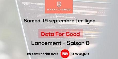 Lancement  8ème saison Data for Good billets