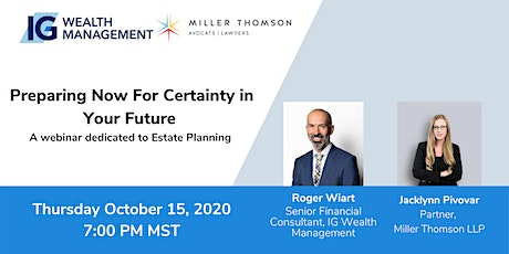 Preparing Now For Certainty in Your Future tickets