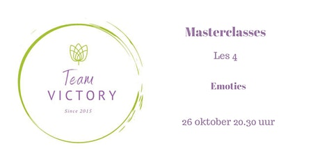 Masterclasses Team Victory: les 4 Emoties tickets