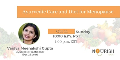 Ayurvedic Diet and Wellness Care for Menopause