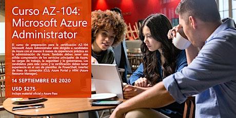 Curso AZ-104: Microsoft Azure Administrator ingressos