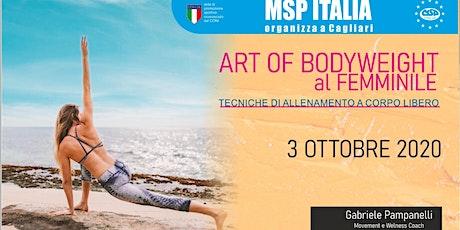 """CORSO MSP ITALIA """"ALLENAMENTO A CORPO LIBERO AL FEMMINILE"""" -3 OTT. CAGLIARI biglietti"""
