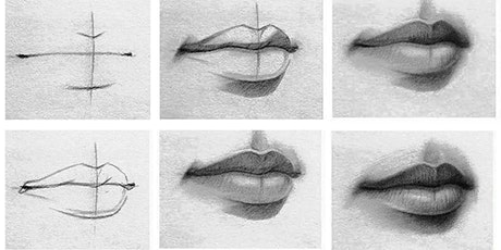 60min Human Face Sketching -Lips (Ages 6+) tickets