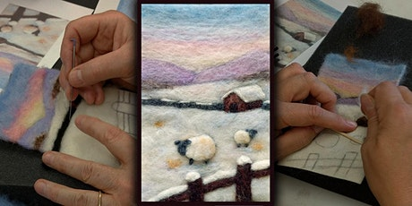 Needle Felt a Small Winter Landscape Painting tickets