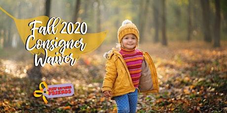 Katy JBF Fall 2020 Consigner Waiver tickets