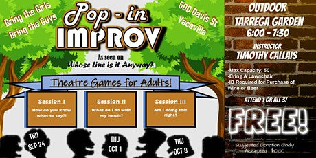 POP-IN IMPROV for Adults tickets