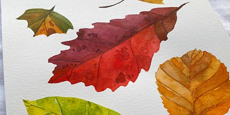 Watercolor Fall Leaves Workshop tickets