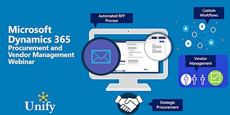 Unify Dots Procurement and Vendor Management Webinar tickets