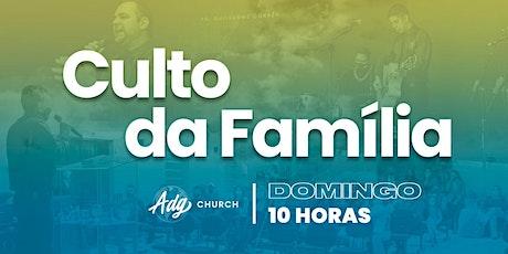 CULTO DE DOMINGO - 27/09 - MANHÃ - 10H ingressos