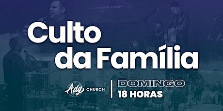 CULTO DE DOMINGO - 27/09 - NOITE - 18H ingressos