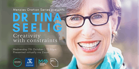 Dr Tina Seelig, Creativity with Constraints tickets