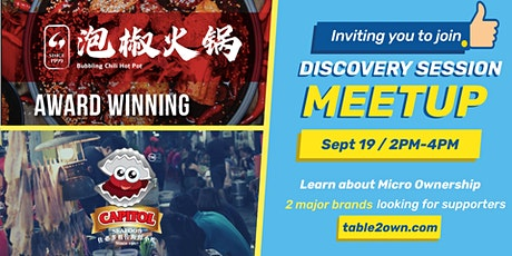 CAPITOL SEAFOOD & BUBBLING CHILI HOTPOT looking for micro owners !! tickets