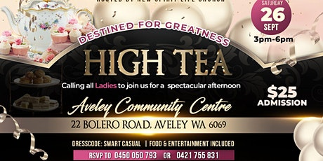 Ladies high tea tickets