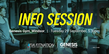 Info Session - FIA Fitnation & Genesis Health + Fitness tickets