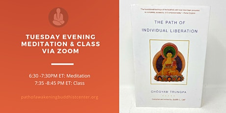 Online Meditation Course via Zoom: The Buddhist Path of Awakening tickets