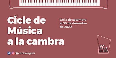 MÚSICA A LA CAMBRA 2020: Esteban Belinchón entradas