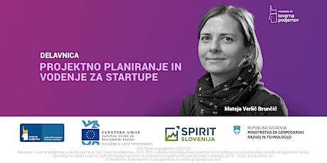 Projektno planiranje in vodenje za startupe tickets
