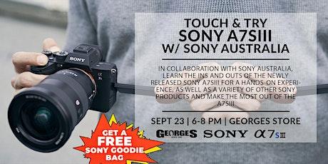 Sony A7SIII | Experience & Learn w/ Sony Australia (2) tickets