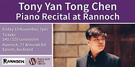 Tony Yan Tong Chen Piano Recital at Rannoch tickets