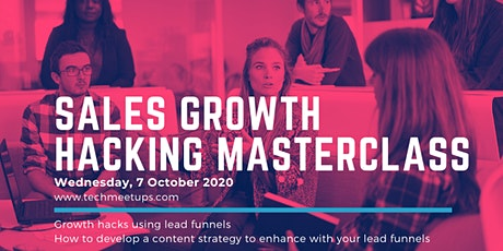 Sales Growth Hacking Masterclass tickets