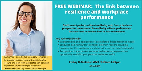 The link between resilience and performance - Free Webinar tickets