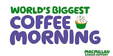 Macmillan Coffee Morning At The CVS Centre tickets