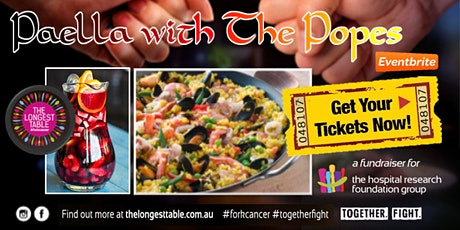 Longest Table for Cancer  - Paella with The Popes tickets