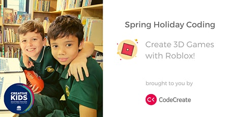 Online Holiday Coding: Create 3D Games with Roblox! tickets