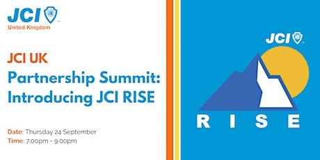 JCI UK Partnership Summit: Introducing JCI RISE tickets
