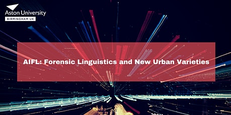 Forensic Linguistics and New Urban Varieties tickets
