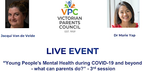 VPC Live Young People's Mental Health during COVID-19  what can parents do? tickets