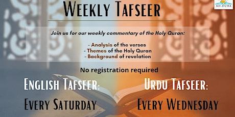 Weekly Tafseer Class tickets