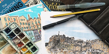 Urban sketching with Cassandra and Mark - Sketching the details tickets