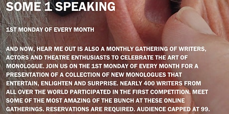 Some1Speaking (The Art of Monologue) tickets