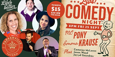 Comedy at The Parky tickets