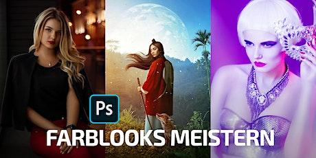 Photoshop Zoominar: Das Geheimnis guter Farblooks und wie DU sie meisterst! Tickets